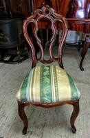Barokk  áttört háttámlájú szék