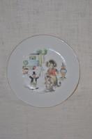 Kahla lapos gyerek tányér ( cirkuszos )  ( DBZ 00111 )