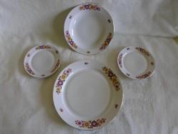 Alföldi, aranyozott szélű porcelánok