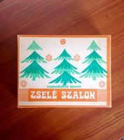 Régi papír karácsonyi szaloncukros doboz