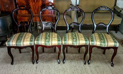 4-db Biedermeier szék