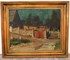 Kun István (1908 - 1980) Lépcsős út c. Képcsarnokos olajfestménye EREDETI Garanciával !