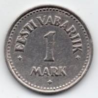 Észtország 1 észt Márka, 1922, ritka