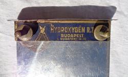 1900 körüli fém budapesti Hydrogén Rt. jegyzettömb tartó