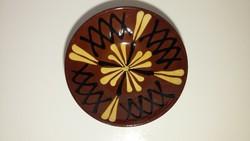 Kézzel festett mázas kerámia falitányér (15cm)
