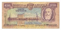 20 escudo 1956 Angola