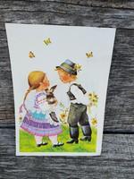 Régi húsvéti képeslap 1987