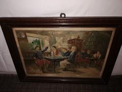 1,-Ft  Kuriózum!Huszárok az ívóban!Festmény 1916-os