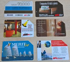 Olasz telefonkártyák ( 6 db )