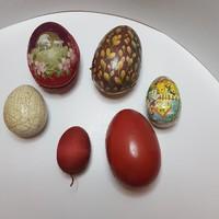 HÚSVÉTRA!!! Antik húsvéti tojások selyemből, papírmaséból, kőből nagy méretűek