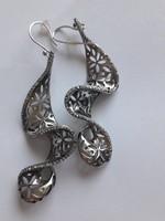 Luxus ékszer,  izraeli ezüst fülbevaló,