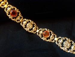 Citrin köves antik 835 ezüst  karkötő