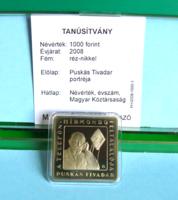 2008 - 1000 Ft PP - PUSKÁS TIVADAR, a telefon hirmondó feltalálója