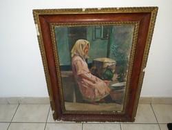 ÁLDOR JÁNOS: eredeti festménye 924-ből