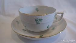 Ó Herendi porcelán csésze + alj hullámos tetejű
