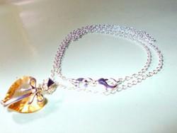 Masni-Szív 925 ezüst - fehérarany Nyaklánc