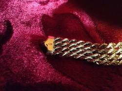 Széles arany karkötő 13.1gr 14 krt