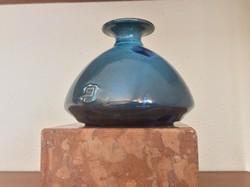 Jelzett kristálymázas váza, art deco stílust kedvelőknek!