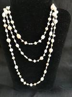 Gyönyörű hosszú gyöngy-Swarovski nyaklánc kézműves, hibátlan.
