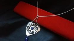 Exkluzív ezüst nyakék lapisz lazulival 95 cm