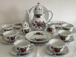 Bavaria, ibolya mintás teás (kávés) készlet