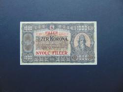 1000 korona 1923 8 fillér Ritkább bankjegy