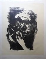 Lévai Ádám - Éjszakai maszk- Szaturnusz, litográfia