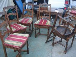 Antik, székek,6 darab