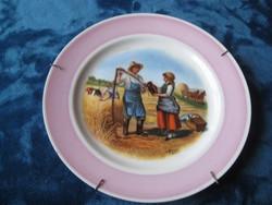 Haviland ,  szép  ,  /francia  / fali tányér   ,, vidéki idill  aratáskor  ,szignós !