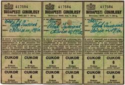 BUDAPESTI CUKORJEGY 1945 ÁPRILIS, MÁJUS, JÚNIUS
