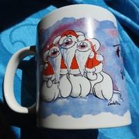 Karácsonyi és Újévi kedves Diddl márkájú kakaós bögre