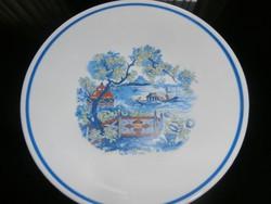Jelenetes Zsolnay fali tányér