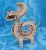 Sárkánykígyó - jelzett szobor kígyó