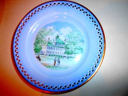 Royal Copenhágen porcelán áttört szegéllyel  dísztányér 18 cm