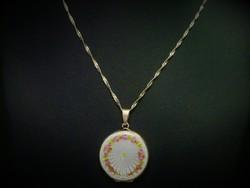 Antik Guilloche ezüst nyitható medál és nyaklánc