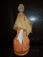 Kubai dáma, kerámia fejjel, és kézzel, 25 cm környékén