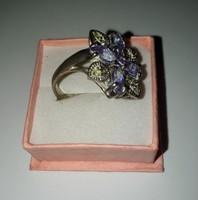 Lila köves ezüst gyűrű