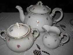 Zsolnay  teás  kiöntők  , apró virágos