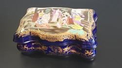 Hatalmas, gyönyörű porcelán doboz! XXXXL méret!!!