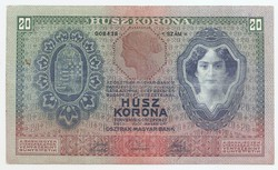 20 Korona 1907 RITKA  kn10348 20 Kronen 1907