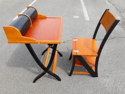 GOLDMANN design iróasztal + GOLDMANN design szék - 1970-es évek, a szék két funkciós szék + létra