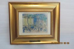 Ruzicskay György: Párizsi látkép a Madeléne templommal