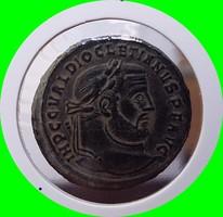 Római érme. - Diocletianus - Nagy follis - Thessaloniki veret!