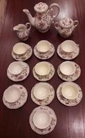 Zsolnay pillangós porcelán mokkakészlet 10 csészés