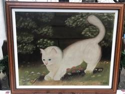 Restaurált Heyer Artúr olajfestmény vászonra festve