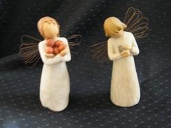 Willow Tree kis ajándék angyal figurák 2 db