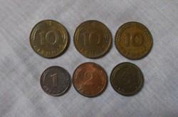 Német pénz - érme, Pfennig (NSZK, Karlsruhe)