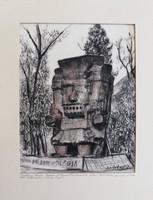 Ritkán előforduló Szalatnyay József grafika. Museo Nacional De Antropologia