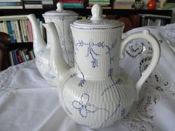 Antik fajansz teás/kávéskanna, feltételezhetően korai Villeroy&Boch
