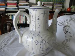 Antik fajansz teás/kávéskanna, nagy méret. Boch (La Louvier)